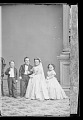 View Strattons, G.W.M. Nutt and Minnie Warren (wedding party) digital asset number 0