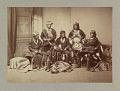View Frank Hamilton Cushing with Laiyuahtsailunkya, Naiyutchi, Palowahtiwa, Kiasiwa, and Nanake digital asset number 0