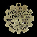 View Railway Mail Service Superintendent Owney tag digital asset number 0