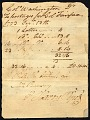 View Colonel George Washington's postage account digital asset number 0