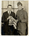 View Photograph of Captain Benjamin B. Lipsner and Major Cushman A. Rice with flag digital asset number 0