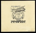 View Cachet art sketch for Foreign Airmail Route #20 digital asset number 0
