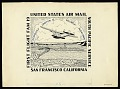 View Cachet art sketch for Foreign Airmail Route 19 digital asset number 0