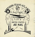 View Cachet art sketch for Foreign Airmail Route 18 digital asset number 0