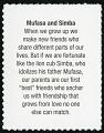 View 37c Mufasa and Simba single digital asset number 2