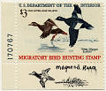 View $3 White-winged Scoters revenue stamp remarque single digital asset number 1