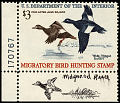 View $3 White-winged Scoters revenue stamp remarque single digital asset number 0