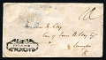 View 10c single letter rate for 30-80 miles addressed by Henry Clay steamboat cover digital asset number 0
