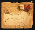 View Damaged pneumatic mail cover with apology label digital asset number 0