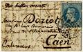 View Folded letter from Paris office at Rue du Cherche-Midi digital asset number 0