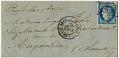 View Folded letter from Paris office at Rue de Bondy digital asset number 0