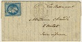 View Folded letter from Paris office at Rue Bonaparte digital asset number 0