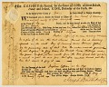View 3p Massachusetts Colonial Issue embossed revenue stamped paper on document digital asset number 2