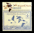 View $1 Buffleheads in Flight revenue stamp remarque single digital asset number 1