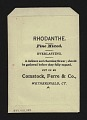 View <I>Seed packet, Comstock, Ferre, & Co., rhodanthe</I> digital asset number 1