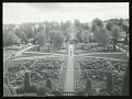 View [Drummond Castle]: looking down on the central part of the parterre garden with its obelisk sundial. digital asset: [Drummond Castle] [glass negative and lantern slide]: looking down on the central part of the parterre garden with its obelisk sundial.