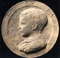 View Portrait Medallion of a Child [sculpture] / (photographer unknown) digital asset number 0