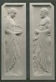 View Two Classical Figures - Relief [sculpture] / (photographed by Louis H. Dreyer) digital asset number 0