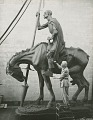 "View Anna Hyatt Huntington working on her heroic ""Don Quixote"" equestrian statue [photograph] / (photographed by Joli Photographers) digital asset number 0"