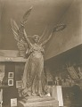 View Soldiers' and Sailors' Monument (detail, Winged Victory; shown in studio) [sculpture] / (photographed by A. B. Bogart) digital asset number 0