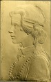 View Portrait Relief of Aloha Linder [sculpture] / (photographer unknown) digital asset number 0