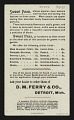 View <I>Trade card, D. M. Ferry and Co., sweet peas</I> digital asset number 1