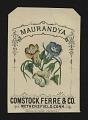 View <I>Seed packet, Comstock, Ferre, & Co., maurandya</I> digital asset number 0