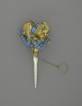 View <I>Bouquet holder, blue beads, mother of pearl handle</I> digital asset number 1