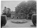 View [Manoir d'Archelles and Vicinity]: looking from the gatehouse to the manor house. digital asset: [Manoir d'Archelles and Vicinity] [glass negative]: looking from the gatehouse to the manor house.