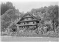 View [Miscellaneous Sites in Switzerland]: a traditional Swiss house and garden in an unidentified location. digital asset: [Miscellaneous Sites in Switzerland] [glass negatives]: a traditional Swiss house and garden in an unidentified location.