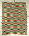 View Tied-Beiderwand coverlet; c. 1825-1850; poss. Pennsylvania digital asset number 0