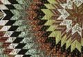 "View 1825 - 1835 Betsy Totten's ""Rising Sun"" Quilt digital asset: Detail of Mary Totten's 'Rising Sun' Quilt"