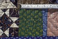 View 1790 - 1810 Copp Family's Framed Center Pieced Quilt digital asset: Detail - Copp Family's Framed Center Pieced Quilt