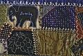 View 1886 J.A.L.'s Crazy-patch Parlor Throw digital asset: Detail - Elelphant