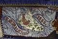 View 1886 J.A.L.'s Crazy-patch Parlor Throw digital asset: Detail - C.D. Whittier 1886