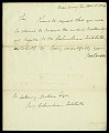 View Letter from Dr. James Lovell to Asbury Dickens, Secretary of the Columbian Institute, October 18, 1826 digital asset number 1
