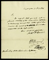 View Letter from Dr. Causin, Mr. Brown, and Dr. Watkins to Asbury Dickens, Secretary of the Columbian Institute, July 17, 1826 digital asset number 1