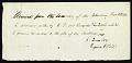 View Note from Eugene Vail, June 6, 1831. Page 1 of 1 digital asset number 1
