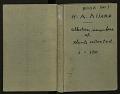 View Book no. 1, H.A. Allard, field collection specimen no. 1-1710 digital asset number 0