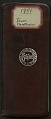 View Field notes, Texas and New Mexico, May 2-October 1, 1901 digital asset number 0