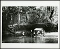 View Smithsonian-Firestone Expedition to Liberia, 1940. Includes newspaper articles. digital asset: Expedition team carrying hammocks across a river, 1940 [Image No. SIA2013-06637]