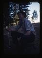 "View Pronghorn Antelope; Oklahoma National Wildlife Refuge; Washington State Blue Mountains Vegetation, 1947-1954 digital asset: ""Mountain Boy"" Buss, satisfied after killing yearling  and elk at Hardy Ridge [Washington], by Helmut K. Buechner, November 1949. [Image no. SIA2014-00007]"