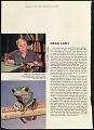 """View Folder 2 Clippings on Cochran and family, 1935, 1937, 1955-1956, 1958, also photographs c. 1954. digital asset: Doris M. Cochran article, """"Frog Lady,"""" THE AMERICAN magazine. [Image no. SIA2014-00043]"""