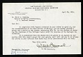 View Tortugas Laboratory Trips, 1924-1925 : Correspondence, 1924, Includes correspondence of William Harding Longley digital asset number 1