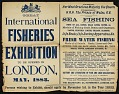 View George Brown Goode Collection digital asset: Poster announcing the Great International Fisheries Exhibition to be opened in London in May, 1883. [Image no. SIA2016-014241]