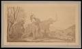 View Painting by Benjamin Waterhouse Hawkins - Attack in Pleistocene England digital asset number 0