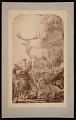 View Painting by Benjamin Waterhouse Hawkins - Irish Elk and Palaeolithic Hunter digital asset number 0