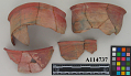 View Fragments Of Red Ornamented Bowl. (1 Lot) digital asset number 0