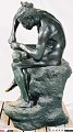 "View Bronze Statue & Base - ""L'Idole"" or ""The Idol Maker"", by Herbert Ward digital asset number 4"