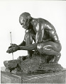 "View Bronze Statue & Base - ""Le Feu"" or ""The Fire Maker"", by Herbert Ward digital asset number 9"
